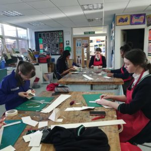 Year 11 doing a 3D workshop